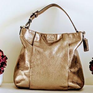 Gold Coach Hobo Bag